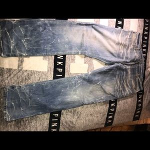 Men's stone washed Robins jeans